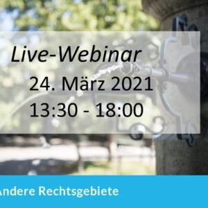 Live-Webinar Pandemie-Recht